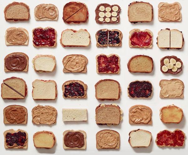 Imagen 1: Variaciones de manteca de maní y mermelada