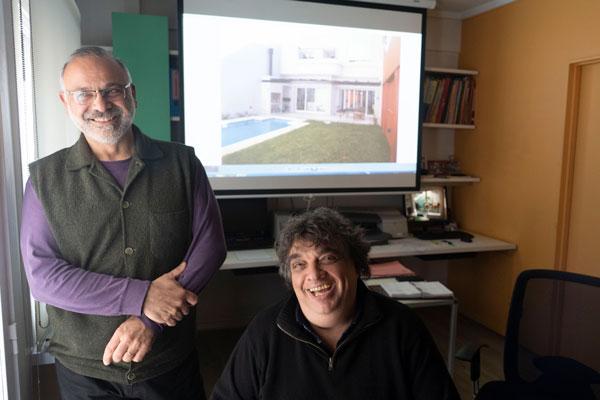 Gittelman y Felice en su estudio. Foto: Pepe Mateos