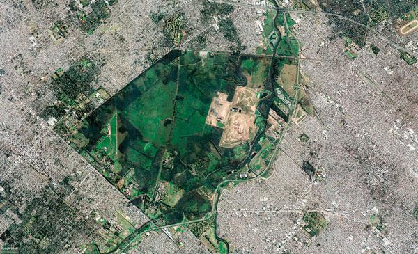 Cuenca río Reconquista. Foto: Google Earth