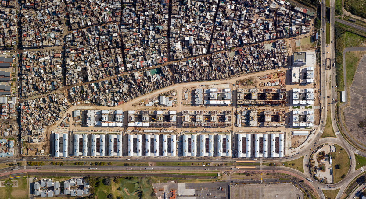 Vista aérea de la urbanización. Foto: gentileza IVC.