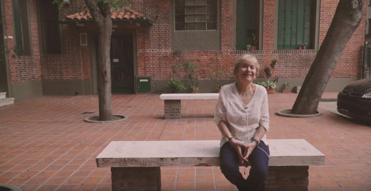 Mabel, usuaria del Conjunto Barrio Los Andes. Las imágenes fueron extraídas de los cortometrajes.