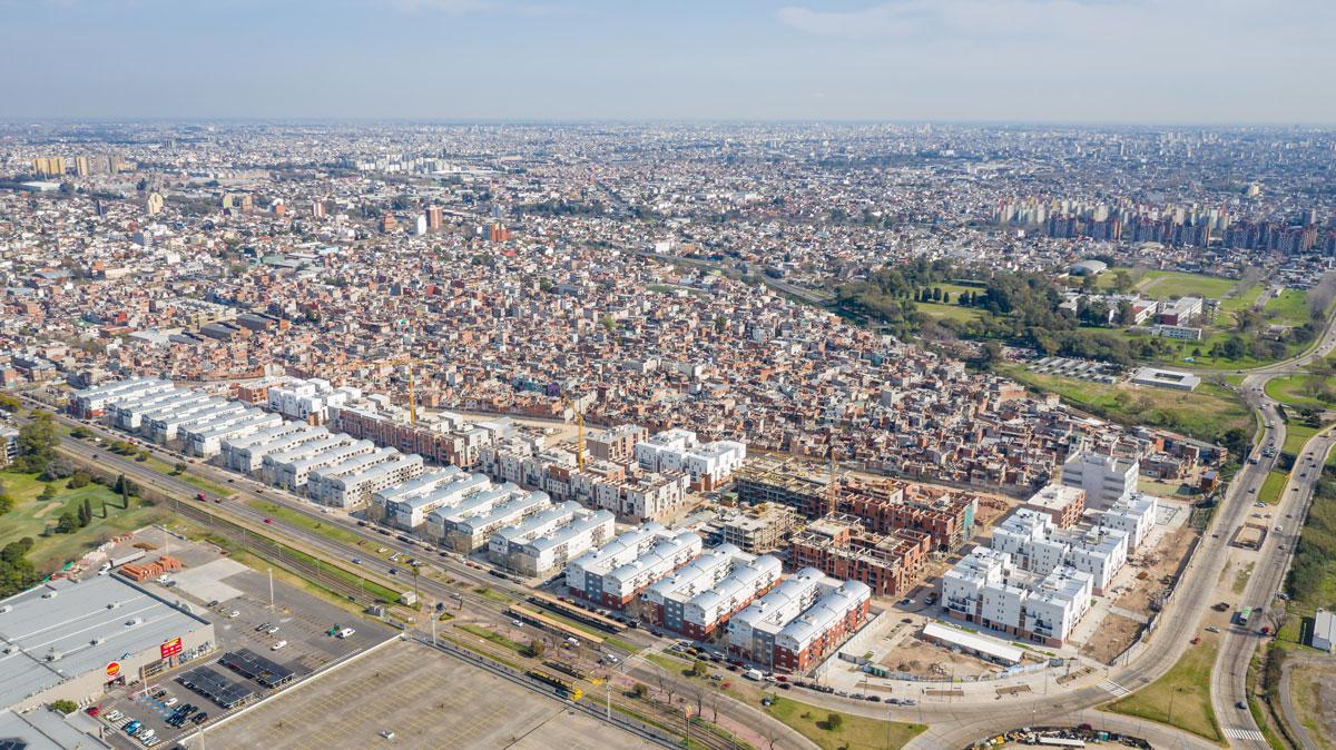 Vista aérea del nuevo Barrio Papa Francisco. Gentileza IVC