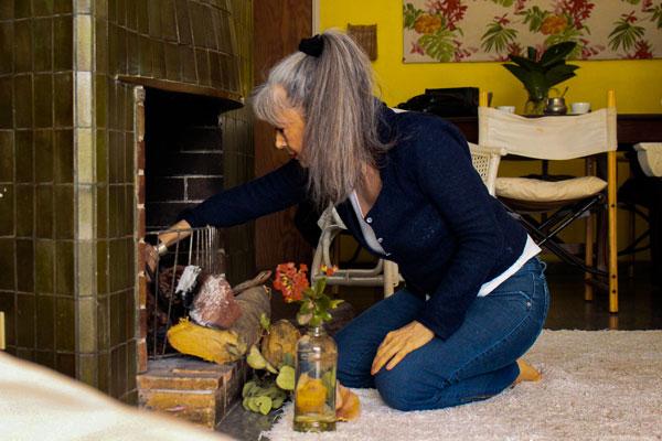 María Teresa Morresi vive hace 25 años en Olazábal 1961, uno de los departamentos que abren sus puertas para el circuito Open House. Foto: Emilia Sardin @emasardin