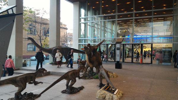 Exposición Dinosaurios en el C3. Foto: Emilio Schargrodsky.