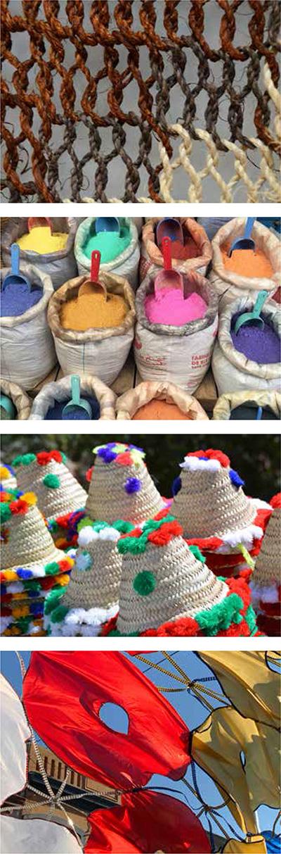 1. Segundo taller de mujeres artesanas del Chaguar, Tartagal Fuente: Ministerio de Cultura de la Nación 2. Diversidad en Marruecos 3. Marruecos 4. Llamada de candombe, Montevideo. Fotos 2, 3 y 4: Mercedes Garzón Maceda