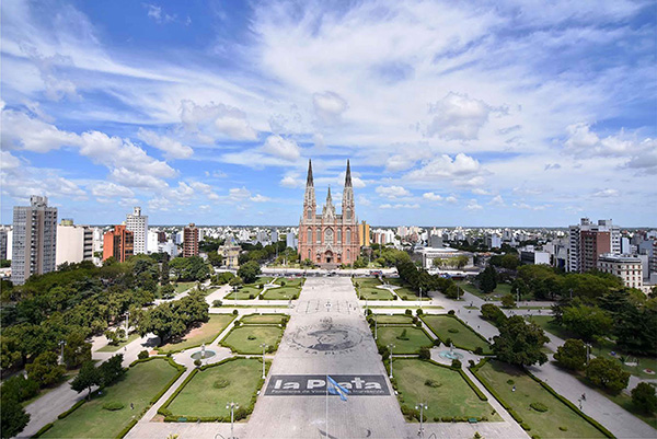 Vista área de la ciudad de La Plata.