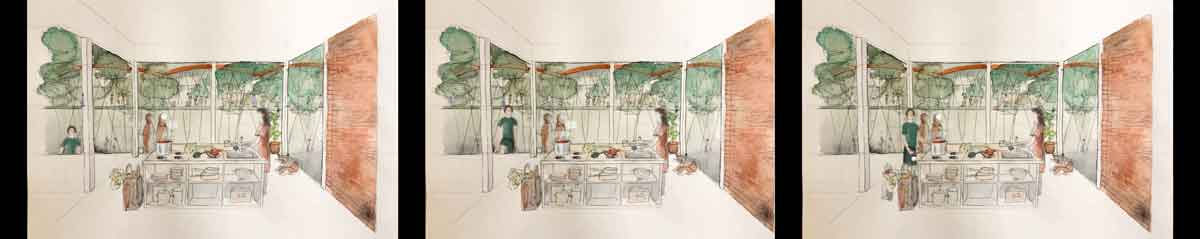 Fotogramas del video de Inès Rausis: Common Kitchen, Caring Neighbours