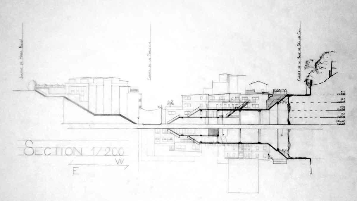 Doble sección, escala 1:200. Yuki Minami.